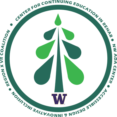 Center for Continuing Education in Rehabilitation logo features a drawing of a green tree inside a a green circle