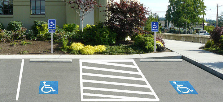 accessible parking lot